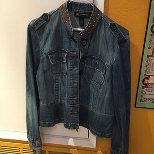 INC. Denim Jacket Size L